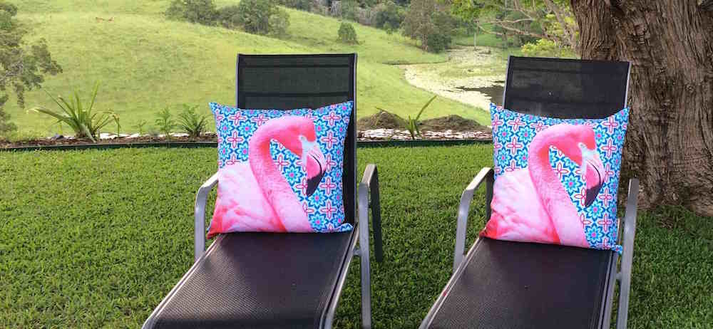 Flamingo Chairs at Hillcrest Mountain View Retreat