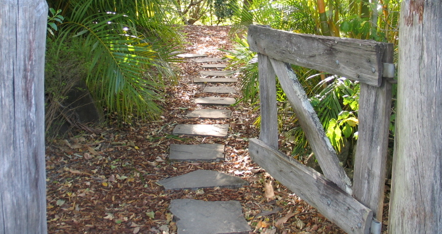 Pathway to The Cottage at Hillcrest
